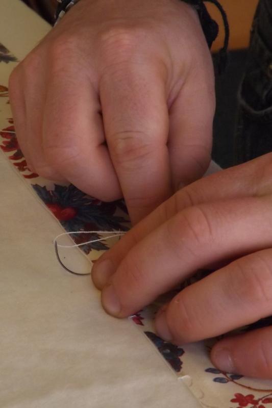 confection rideau doublé finetté fait main