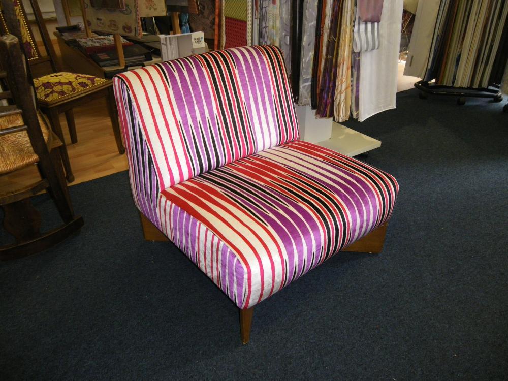 chauffeuse contemporaine, tissu Zinc textile