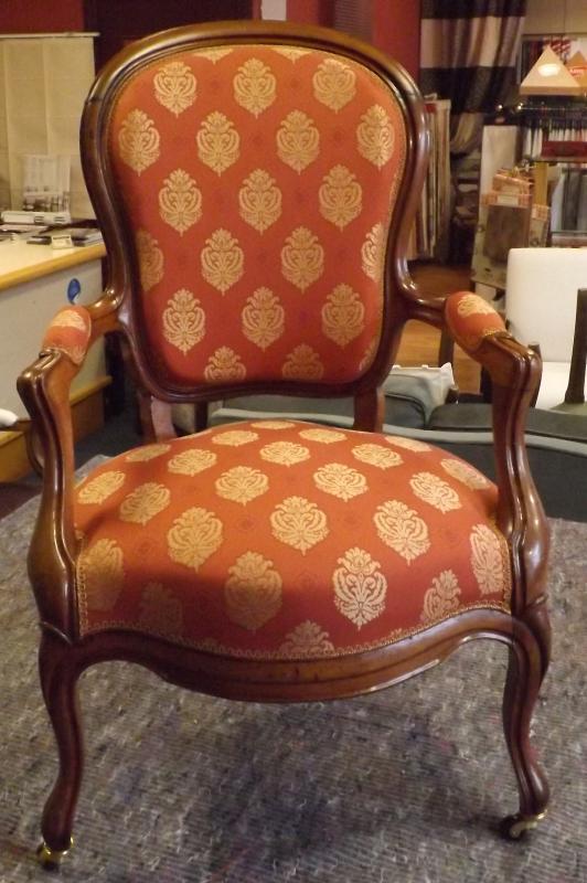 fauteuil en cabriolet d'époque Louis-Philippe
