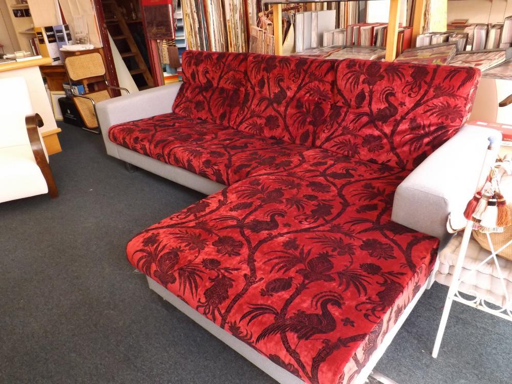 restauration d'un canapé d'angle contemporain