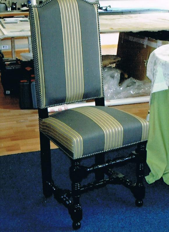 restauration d'une chaise Louis XIII