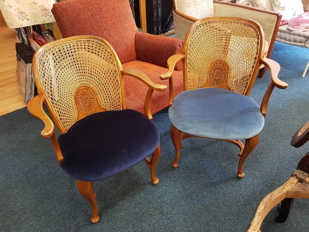 fauteuil dossier canné
