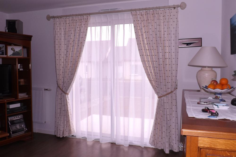 confection de rideaux doublés et de voilage