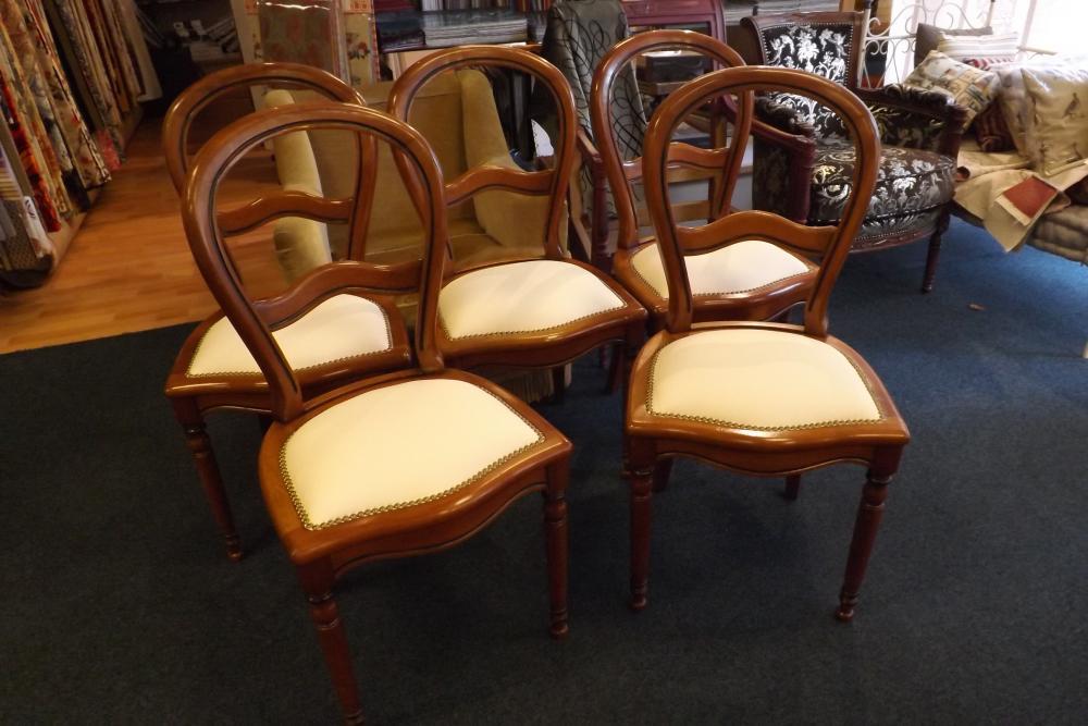restauration de chaises Louis-Philippe