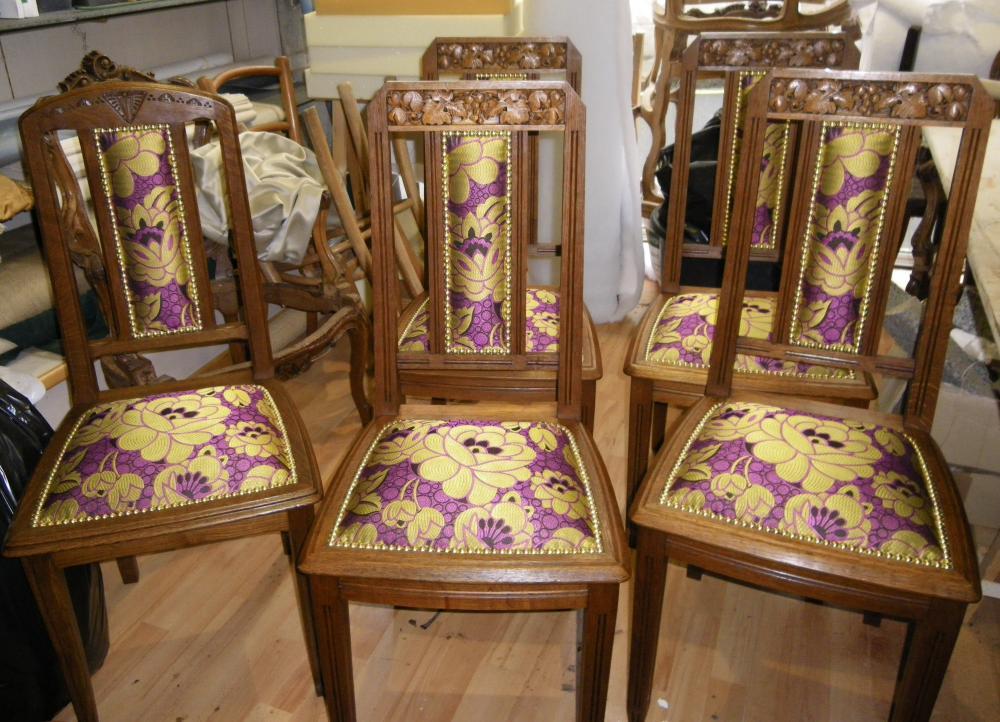 restauration de chaises art-deco
