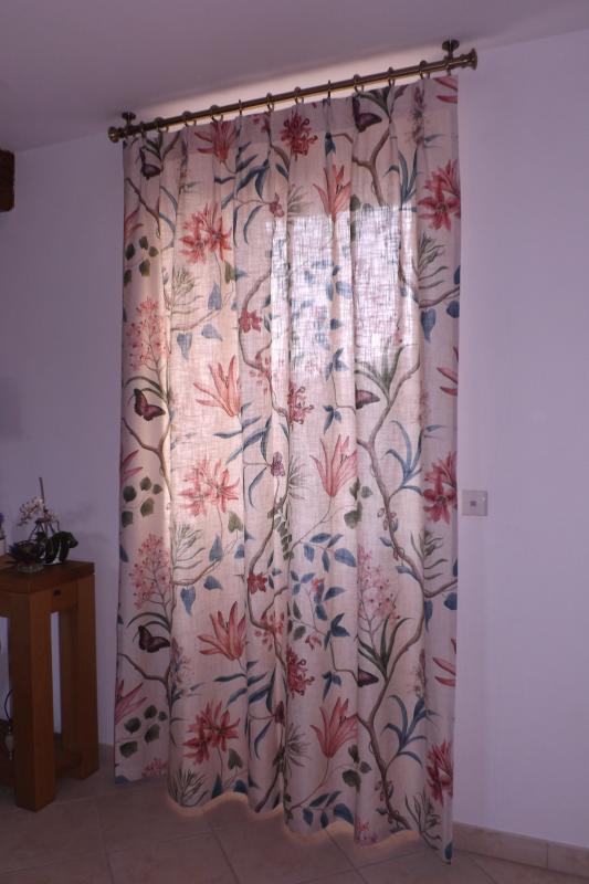 confection de rideaux, tête à plis double