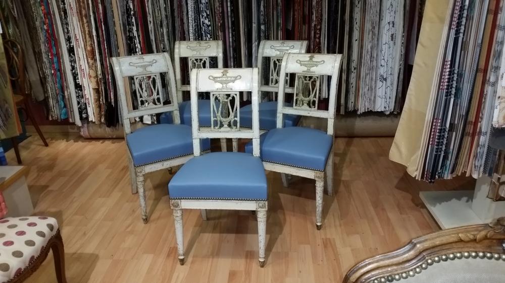 restauration de chaises directoire d'epoque