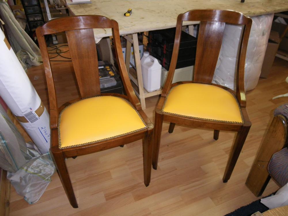restauration de chaise art-deo