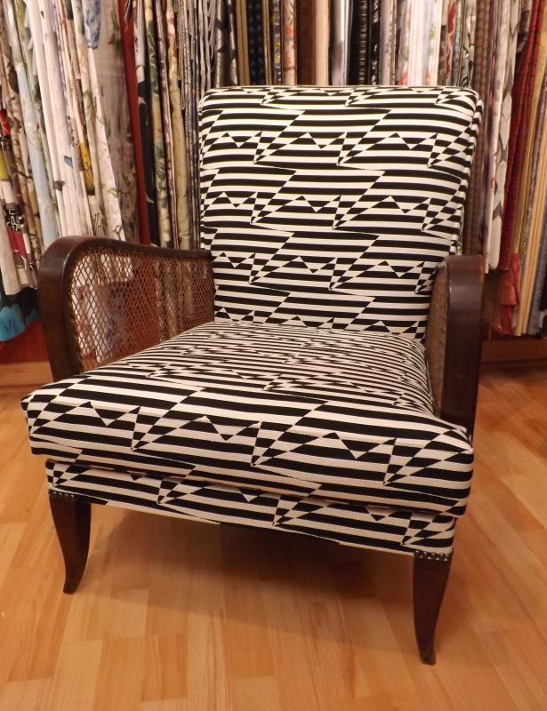 restauration complete d'un fauteuil contemporain