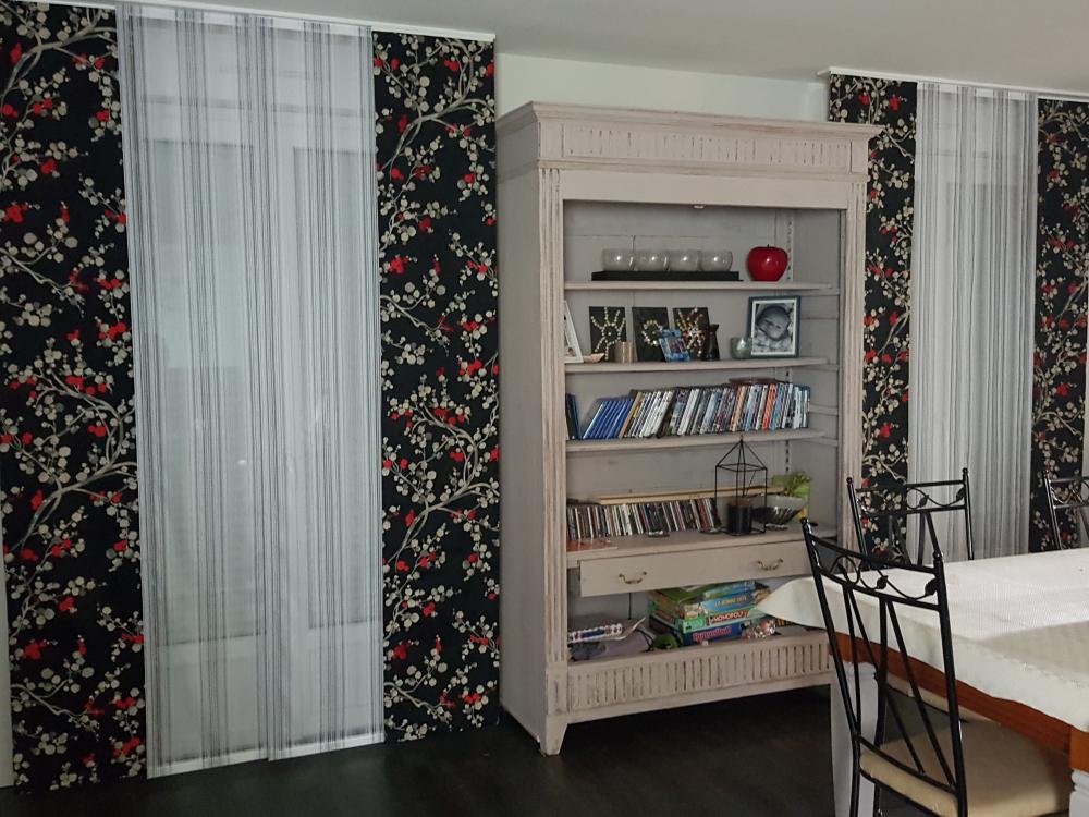 confection cloison parois japonaise tissu voilage tapissier decorateur ollivier treguier paimpol lannion guingamp cotes d'armor