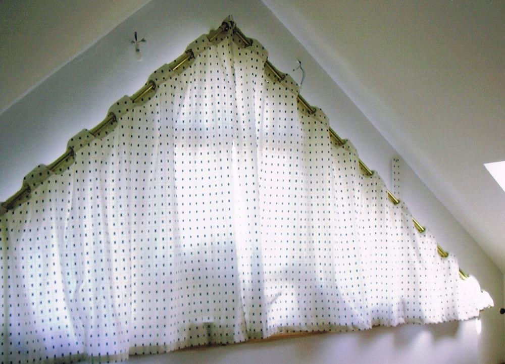 confection rideaux doublé, tête à oeillets
